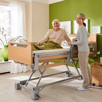 Sanitätshaus rahm kostenloses Pflegepaket beantragen Pflegebett