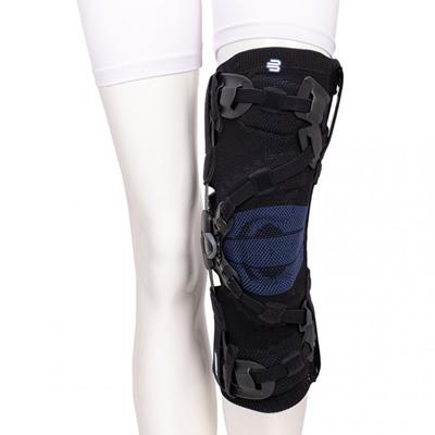 Die GenuTrain OA entlastet bei Gonarthrose, Verletzungen oder Instabilität die schmerzhafte Innen- oder Außenseite des Knies.