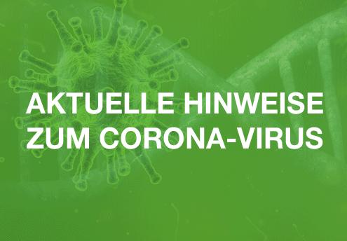 Corona-Wir sind weiter für Sie da