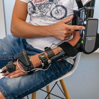Orthesen und Exoskelette testen beim Sanitaetshaus rahm, MyoPro